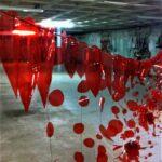 Atelier d'artistes en rouge